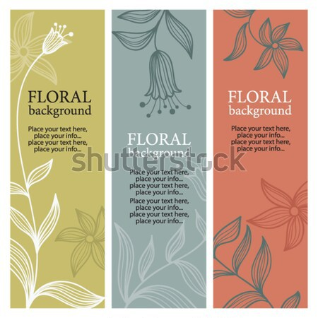vertical floral banners Stock photo © Lenlis