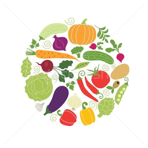 野菜 健康 サラダ 食べ 料理 唐辛子 ストックフォト © Lenlis