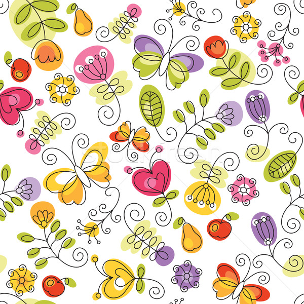 seamless pattern with flowers Stock photo © Lenlis