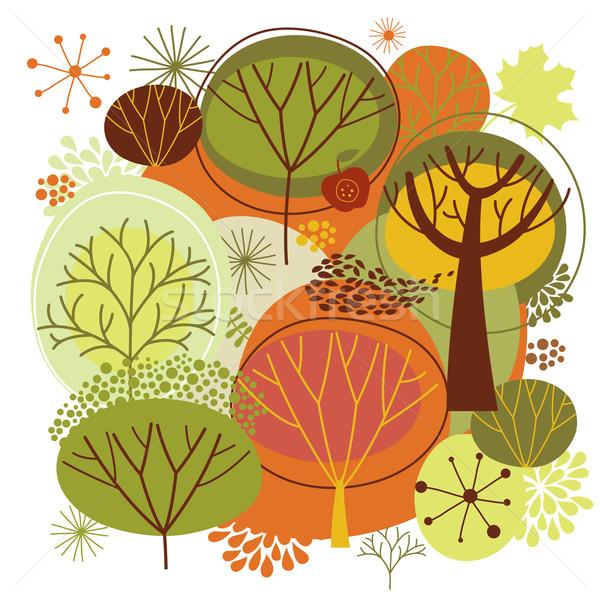 秋 実例 ツリー 葉 背景 芸術 ストックフォト © Lenlis