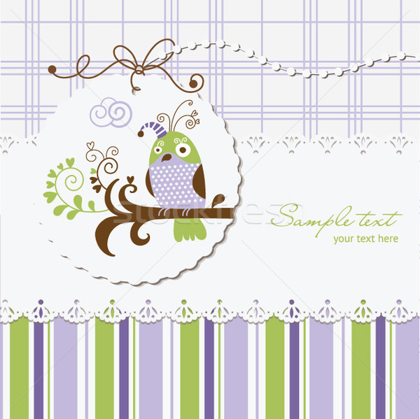 greeting card with scrapbooking elements Stock photo © Lenlis