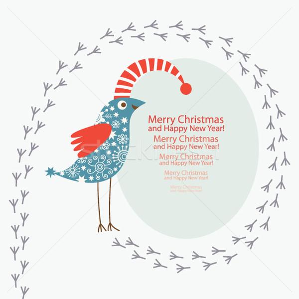 ストックフォト: 挨拶 · クリスマス · 新しい · 年 · カード · デザイン