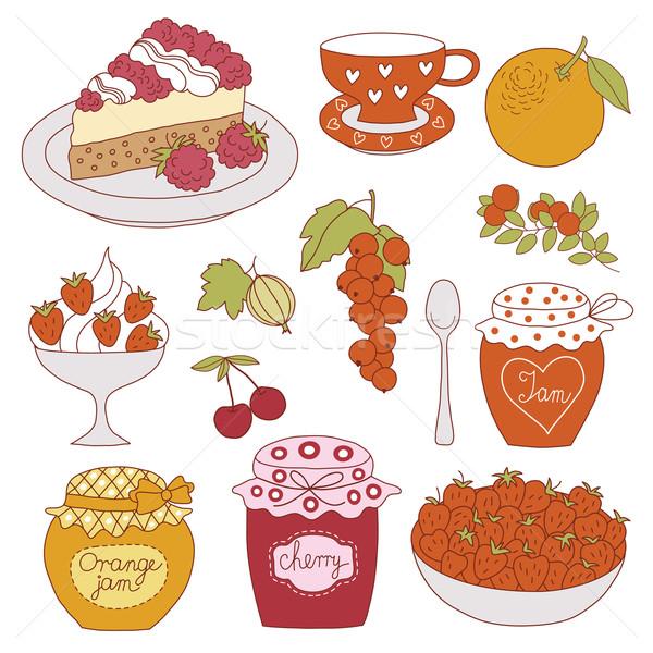 説明 キッチン ケーキ オレンジ 白 ストックフォト © Lenlis