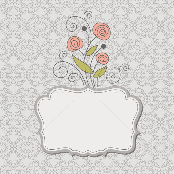 ストックフォト: ロマンチックな · レトロな · 背景 · フレーム · ギフト · カード