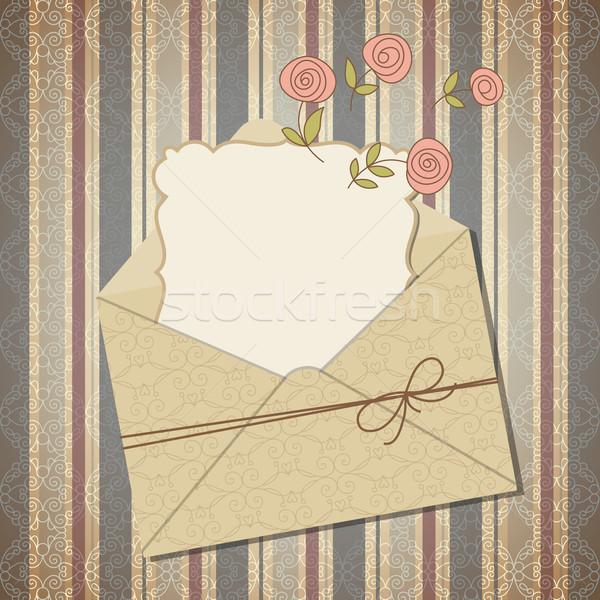 封筒 はがき 紙 フレーム 母親 レトロな ストックフォト © Lenlis