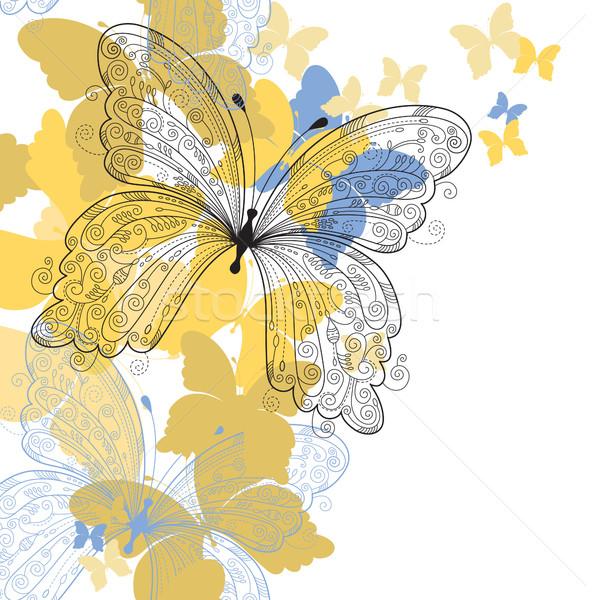 蝶 自然 歳の誕生日 背景 芸術 夏 ストックフォト © Lenlis