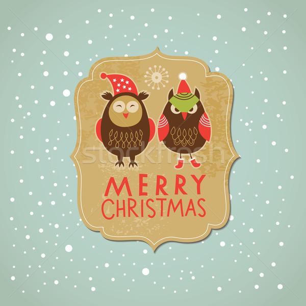 クリスマス カード 子供 幸せ 子供 ストックフォト © Lenlis
