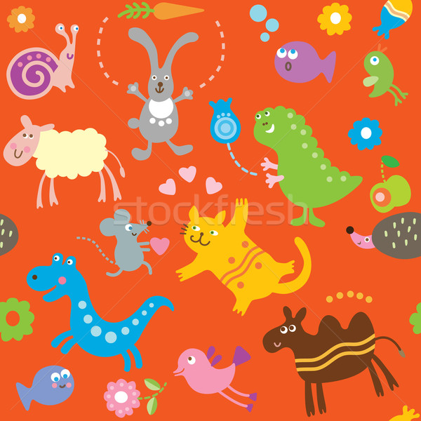 cute vector animals Stock photo © Lenlis