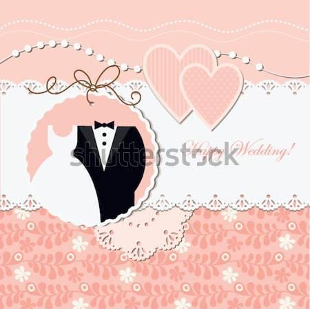 スクラップブック 要素 結婚式 愛 幸せ ストックフォト © Lenlis