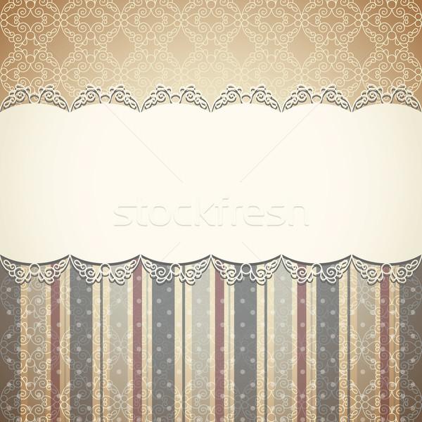 ヴィンテージ レトロな 紙 デザイン フレーム 母親 ストックフォト © Lenlis