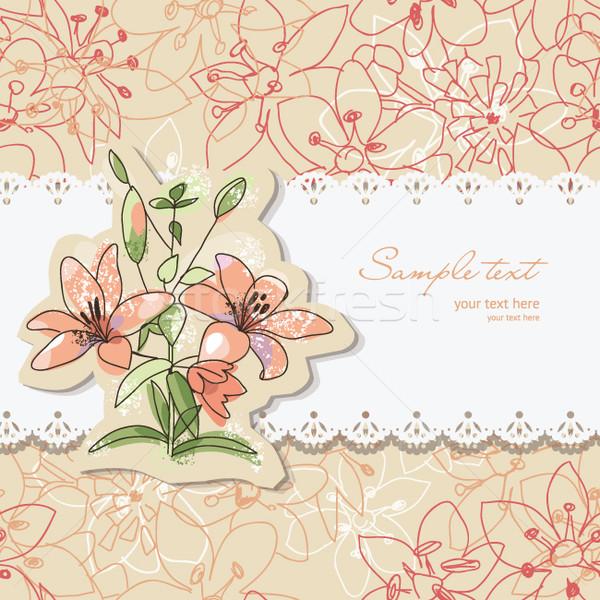 Foto stock: Beleza · floral · cartão · lugar · texto · flor