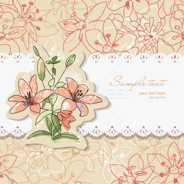 Schoonheid wenskaart plaats tekst bloem Stockfoto © Lenlis