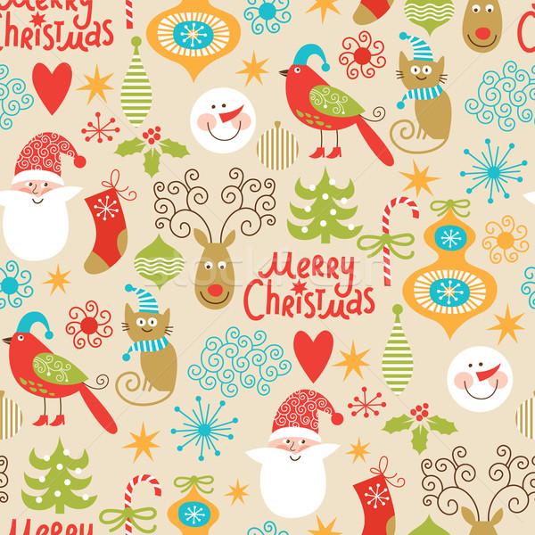 シームレス クリスマス 新しい 年 装飾的な 要素 ストックフォト © Lenlis