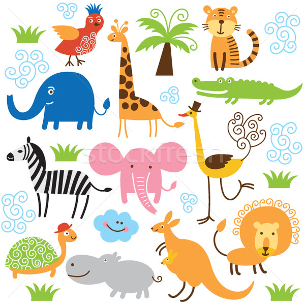 set of vector animals  Stock photo © Lenlis