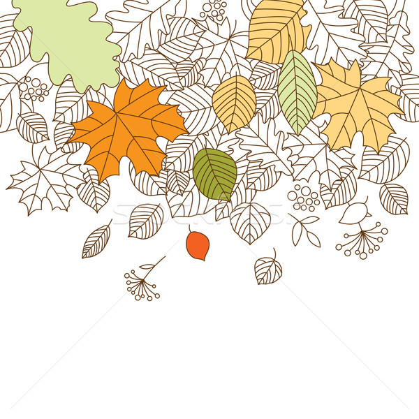 秋 テクスチャ ツリー デザイン 背景 芸術 ストックフォト © Lenlis