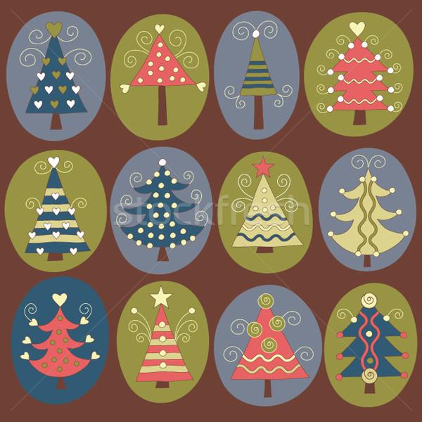 かわいい クリスマス 木 ツリー 芸術 冬 ストックフォト © Lenlis