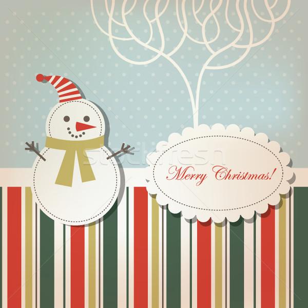 挨拶 クリスマス 新しい 年 カード ツリー ストックフォト © Lenlis