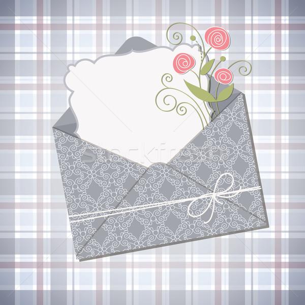 封筒 はがき 紙 フレーム 母親 ヴィンテージ ストックフォト © Lenlis
