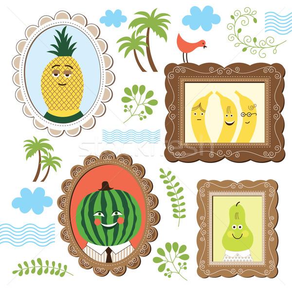portrait of fruits  Stock photo © Lenlis