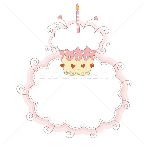 Primeiro feliz criança aniversário chocolate Foto stock © Lenlis