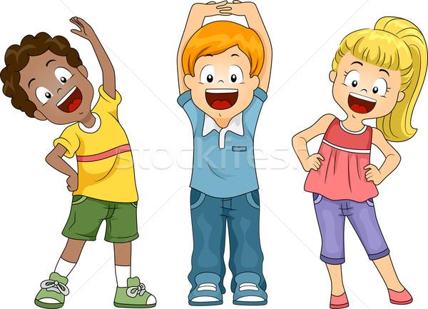 дети осуществлять иллюстрация ребенка студент Сток-фото © lenm