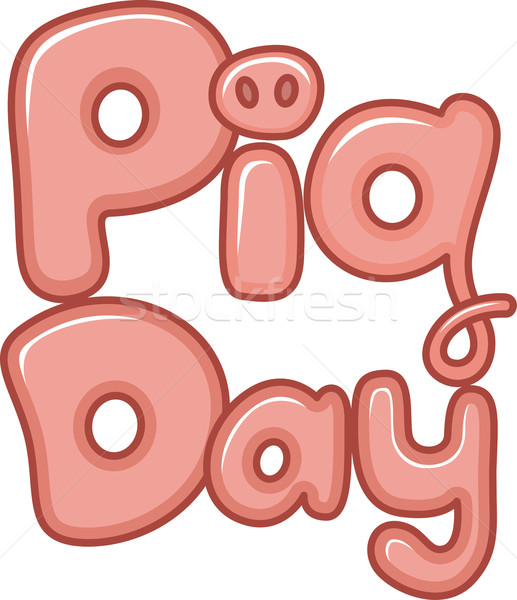 National Pig Day Stock photo © lenm