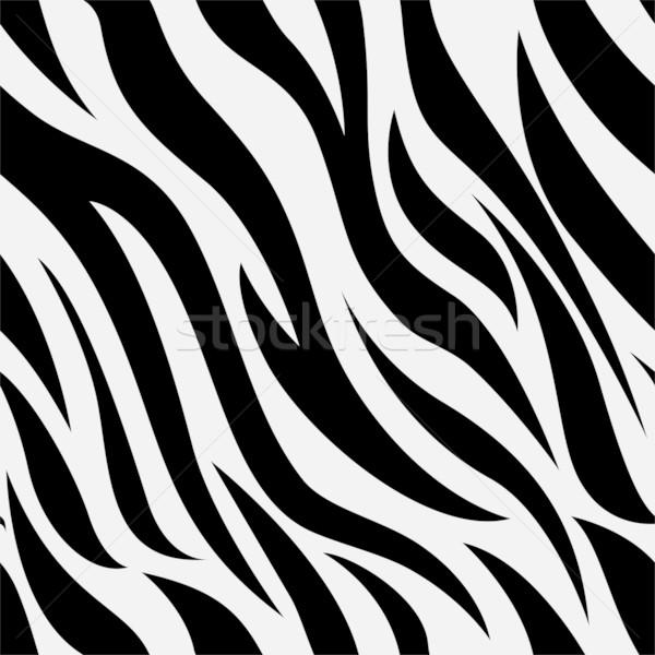 Zebra Animal Print Background Stock photo © lenm