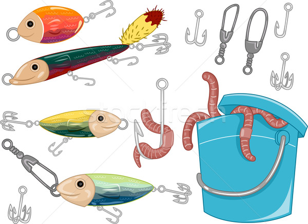 Fishing Elements Stock photo © lenm