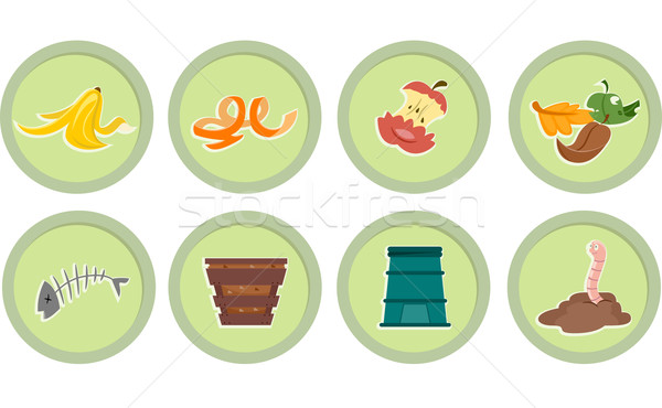 Composting Stickers Stock photo © lenm