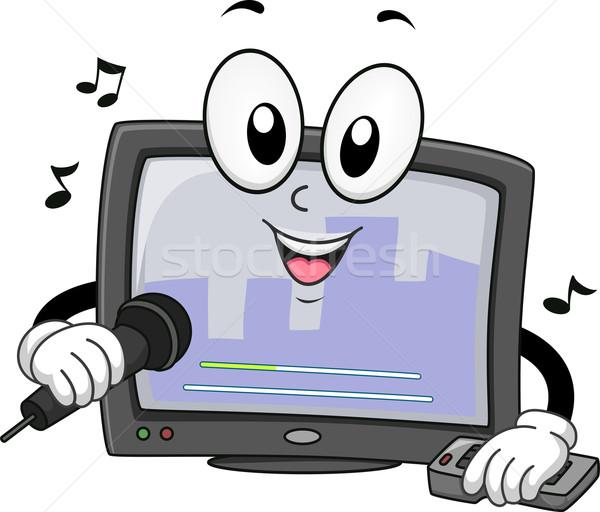 Mascot Karaoke Sing Stock photo © lenm