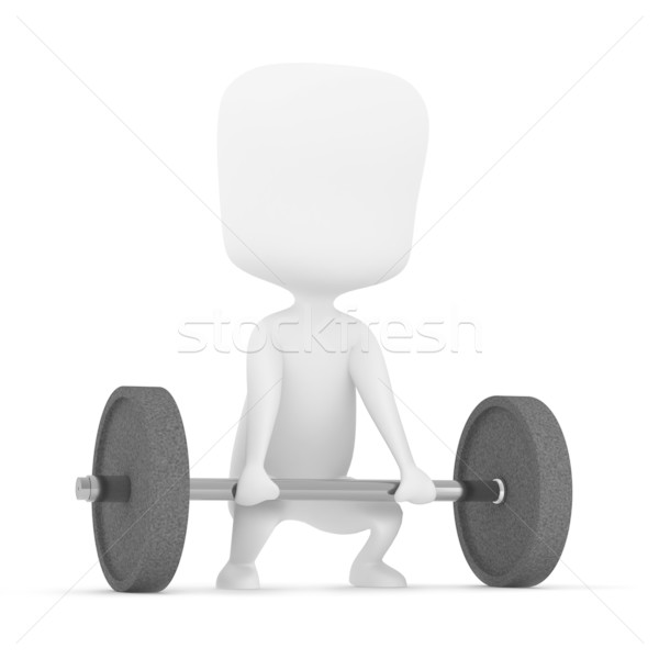 тяжелая атлетика 3d иллюстрации человека фитнес власти парень Сток-фото © lenm