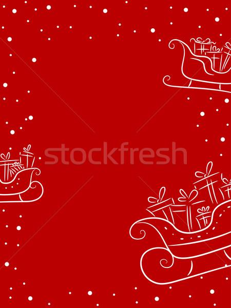 Christmas sanie ilustracja pełny prezenty projektu Zdjęcia stock © lenm