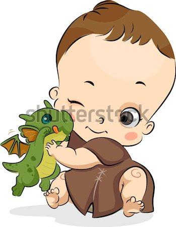 Gyerek hangyák illusztráció gyermek állatok tanul Stock fotó © lenm