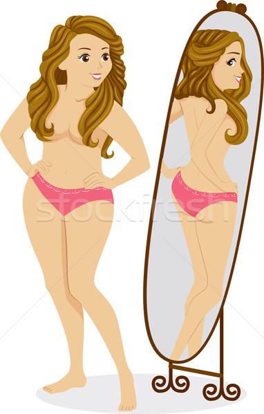 Body Image Girl Stock photo © lenm