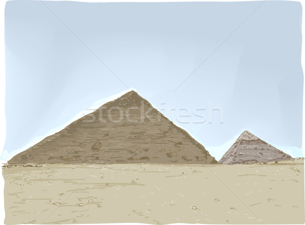 Pyramids of Egypt Stock photo © lenm
