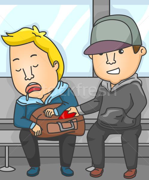 Subway Pickpocket Stock photo © lenm