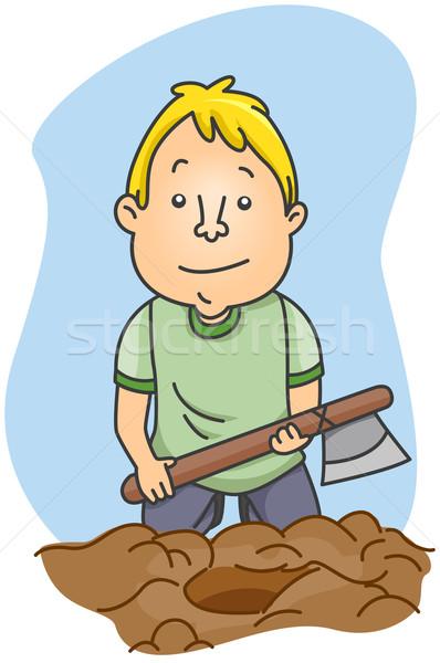 Burying the Hatchet Stock photo © lenm