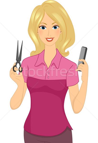 Girl Hair Dresser Stock photo © lenm
