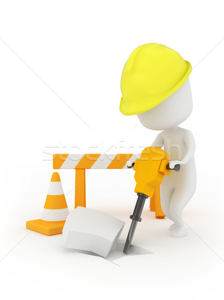 Man at Work Stock photo © lenm