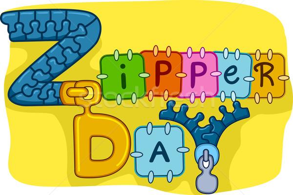 Zipper Day Stock photo © lenm