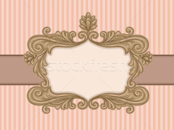 Baroque Vintage Frame Stock photo © lenm