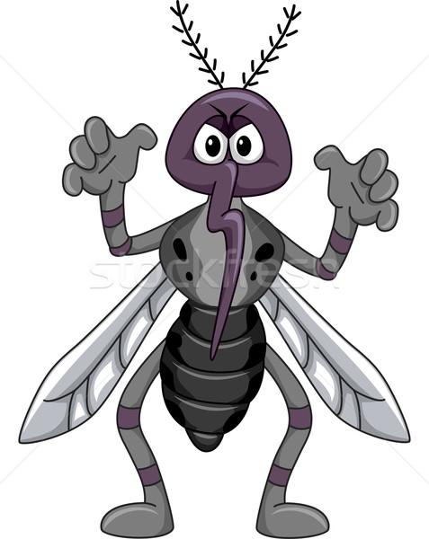 Sivrisinek maskot örnek korkutucu poz tıbbi Stok fotoğraf © lenm