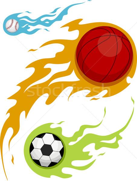 Balls Flame Design Stock photo © lenm