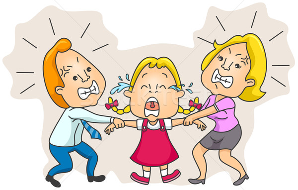 両親 戦う 子 親権 ストックフォト © lenm