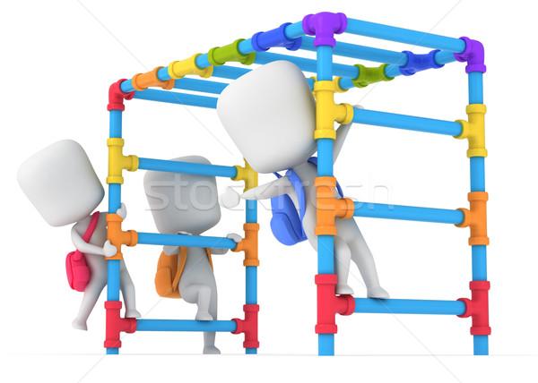 Majom bár 3d illusztráció gyerekek játszanak gyerekek diák Stock fotó © lenm