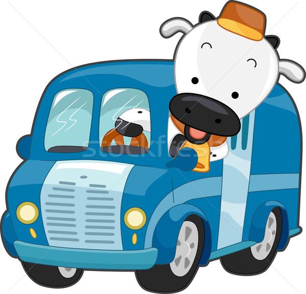 Milk Truck Stock photo © lenm