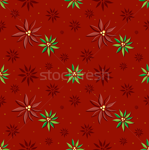Poinsettia Background Stock photo © lenm