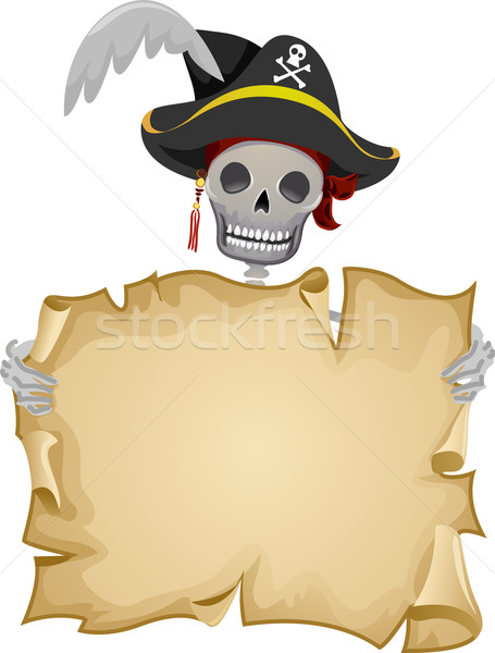 Pirate Scroll Frame Stock photo © lenm