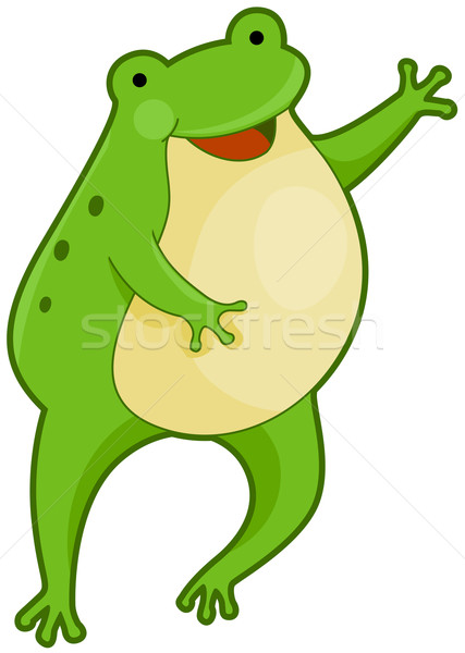 Cute Frog Stock photo © lenm