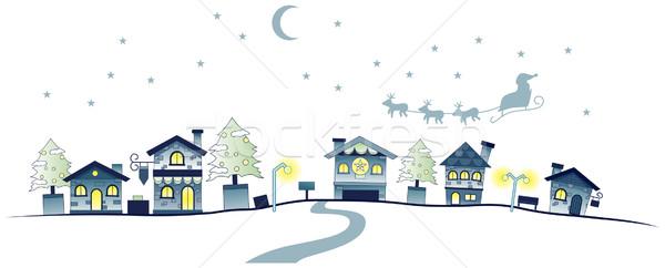 Christmas Urban Scene Stock photo © lenm